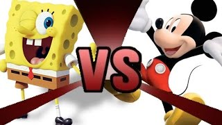 SPONGEBOB SQUAREPANTS vs MICKEY MOUSE Cartoon Fight Club Episode 6
