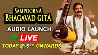 Gangadhara Sastry's Sampoorna Bhagavad Gita Audio Launch LIVE