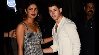 Priyanka Chopra and Nick Jonas share a meal with family and friends