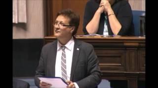 Ron Schuler congratulates the German Society of Winnipeg