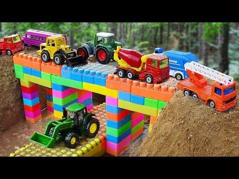 Xxx Mp4 Bridge Construction Vehicles Toys For Kids Fire Truck Dump Truck For Children 3gp Sex