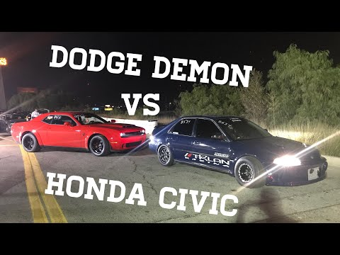 Dodge Demon VS  860HP Honda Civic  (1320 action)