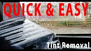 QUICK & EASY Remove Window Tint