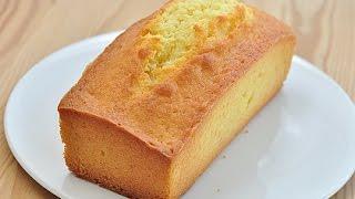 基本磅蛋糕。pound cake