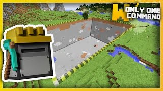 Minecraft - CUSTOMIZABLE QUARRIES With Only One Command Block (200x200 blocks!)