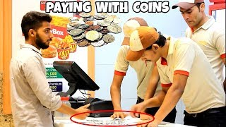 Paying Food Brands With Pennies   Amanah Mall   Prank In Pakistan