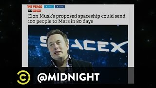 Bruce Campbell, Justin Willman, Nick Swardson - Traveling to Mars - @midnight with Chris Hardwick