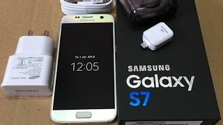 Samsung Galaxy S7 Silver Titanium unboxing and quick look