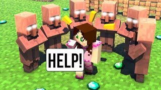 Minecraft: NEVER TRADE WITH VILLAGERS!!! - VILLAGERS SECRET - Custom Map