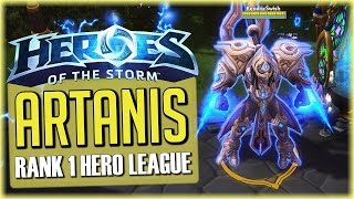 Heroes of the Storm: Artanis Gameplay - Hero League Rank 1 [Tank Build]
