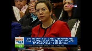 Dating DOH Sec. Garin, hinamon ang nag-aakusa sa kanya ng katiwalian na maglabas ng ebidensya