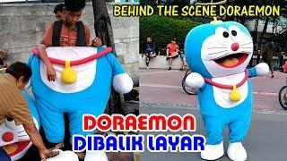Behind the scene Doraemon. Dibalik layar badut doraemon