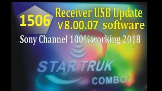 1506 Code Startruk combo2 Powervu Keys Sony Network 100% Working Software link 2018