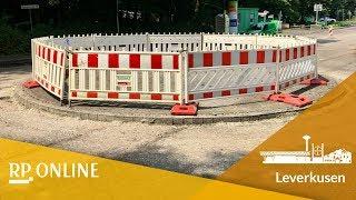 Neuer Kreisverkehr in Leverkusen-Opladen