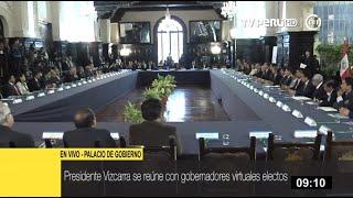 Presidente Vizcarra se reúne con alcaldes y gobernadores electos en Palacio de Gobierno