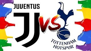 How to Draw and Color - Juventus vs Tottenham Champions League Logos Coloring Pages