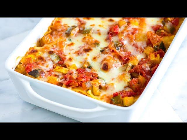 Easy Vegetable Lasagna Recipe - How to Make Fresh Vegetable Lasagna