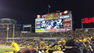 What fans do during the commercials at a Steelers game. Heinz Field, PA Steelers v Ravens 12/25/2016
