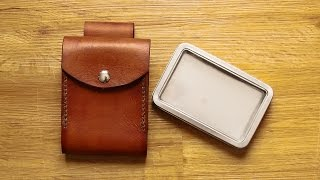Making A Leather Belt Pouch