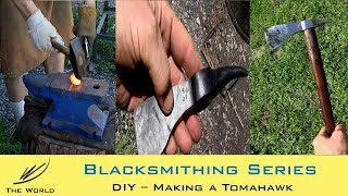 Forging a Native American Style Tomahawk (Axe) using Railroad Spike - Part 1