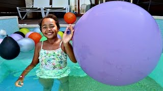 Giant Balloons Toy Surprise Challenge - Barbie - Shopkins - Minecraft - Animal Jam - Princess Toys