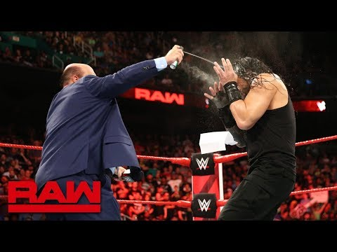 Paul Heyman and Brock Lesnar ambush Roman Reigns: Raw, Aug. 13, 2018