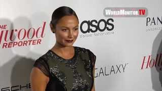 Stacy Keibler arrives at The Hollywood Reporter's 2013 Primetime Emmy Awards party