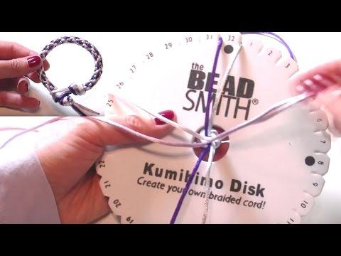 Abalorios manualidades Pulsera con Telar Kumihimo