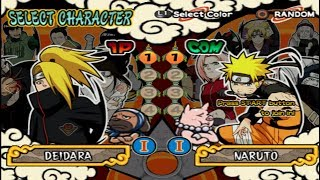 Naruto Shippūden: Ultimate Ninja 4 Opening and All Characters [PS2]