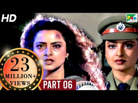 Phool Bane Angaray (1991 ) | Rekha, Rajinikanth | Hindi Movie Part 6 of 9