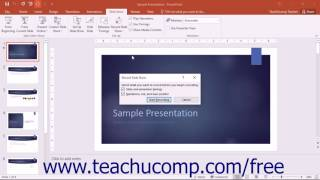 PowerPoint 2016 Tutorial Recording Narration Microsoft Training