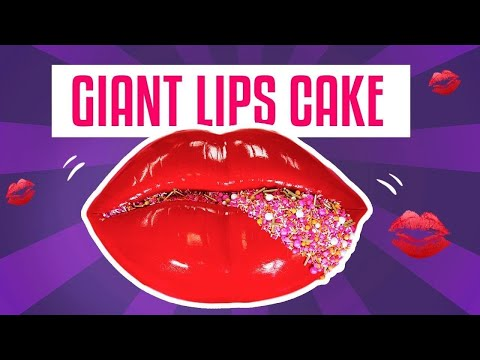 How To Make A GIANT LIPS CAKE For Valentine's Day w GLAM Sprinkles Yolanda Gampp How To Cake It