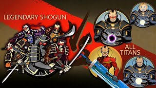 Shadow Fight 2 Legendary Shogun Vs All Titans