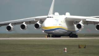 Antonov 225 Mriya Departs Manchester Airport, 26th June 2013
