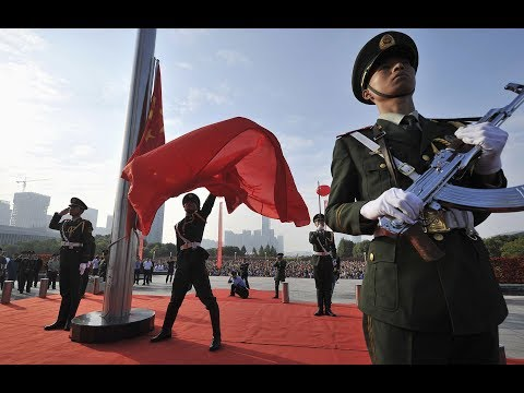 watch China Military Parade 2015 - National Flag Raising Ceremony