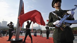 China Military Parade 2015 - National Flag Raising Ceremony