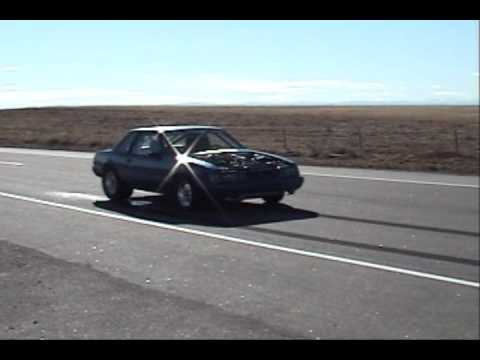1200 Hp 8 sec Twin Turbo Mustang trying to do a wheelie on street