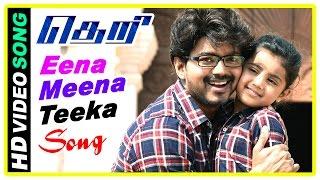 Theri Movie scenes | Title Credits | Vijay and Baby Nainika intro | Eena Meena Teeka song | Amy