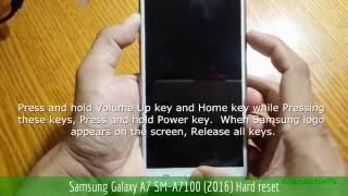 Samsung Galaxy A7 SM-A7100 (2016) Hard reset