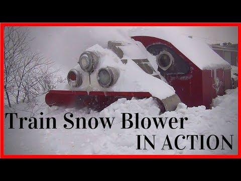 Biggest Snowfall vs Train Snowblower Train Snow Plow Rotary Snow Plow Blower