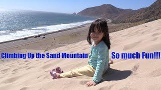 Fun Family Outdoor Activity: Hulyan & Maya's Beach Playtime Fun! The Sand  Mountain!