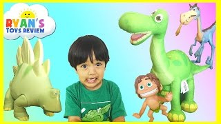 THE GOOD DINOSAUR TOYS Arlo Spot Bubbha toys for kids children toddlers Ryan ToysReview
