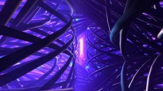 4K ⌨ Gamers Design ⌨ Purple Pipe Corridor Flight ⌨ 2160p Motion Background