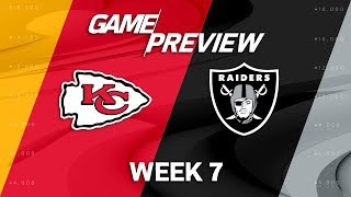 Kansas City Chiefs vs. Oakland Raiders | Week 7 Game Preview | NFL Playbook