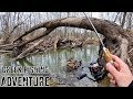 Mission IMPOSSIBLE: FLOODED & Eroded Creek!!! (Winter Trout Fishing)