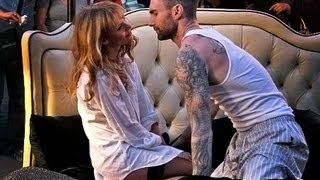 Adam Levine Behind the Scenes with Anne Maroon 5 - Never Gonna Leave This Bed