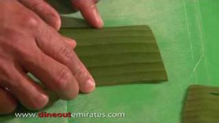 How to make a Banana leaf garnish - dineoutemirates.com
