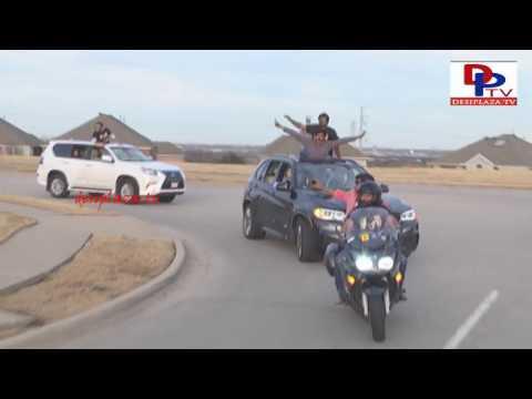 watch Car Rally Arriving Regal Theaters Megastar Chiranjeevi Khaidi No 150 Release Hungama in Dallas
