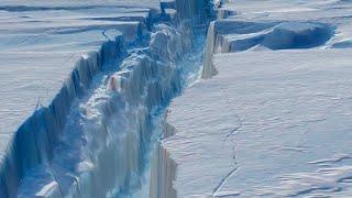 Massive crack might cause Antarctic ice shelf to break off; Greenland's ice melting - Compilation