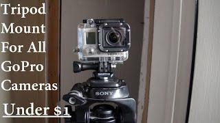 GoPro DIY Tripod Mount Under $1